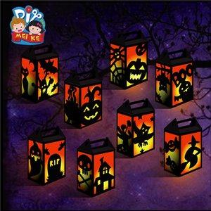 Lampeggiante Held Halloween Lanterne mano Glowing Diy Lanterna Materiali Handmade Pacchetto bambini giocattoli per feste 1 6mk E1