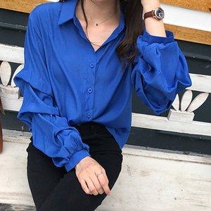 WEIXINBUY Nouvelle Arrivée 2019 Printemps Blouse Femmes À Manches Longues Chemise Femelle Mode Lâche Blouse Bureau Lady Vêtements