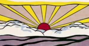 Roy Lichtenstein Peinture à l'huile sur toile Pop Art Sunrise 1965 Wall Art Home Decor Grande photo pour le salon 190922