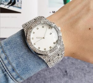 Luxury diamond men's watch women automatic stainless steel diamond watch super bright men's watch couple gift