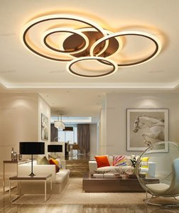 Surface Mounted Modern Led Chandelier For Living room Bedroom Dining room Kitchen Lustre Circles Led Ceiling Chandelier Lighting LLFA