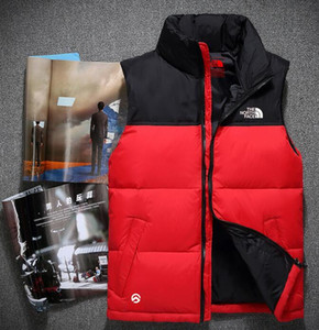 2020 Kış Erkek Üst Kalite Aşağı Kapüşonlular KUZEY Ceketler Kamp Windproof Kayak Sıcak Aşağı Coat Açık Casual Kapşonlu Spor YÜZ yelek