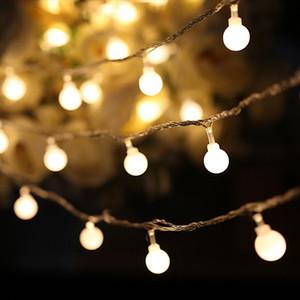 LED Yuvarlak Topları Dizeleri Işık Akülü 5 m 50 LEDs / 4 m 40 LEDs / 3 m 20 LED Festivali Düğün için Dekorasyon Aydınlatma Tatil