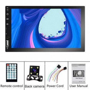 2DIN 자동차 멀티미디어 플레이어 안드로이드 8.1 7 HD 자동차 라디오 터치 스크린 2DIN 자동차 오디오 스테레오 MP5 블루투스 플레이어 USB TF FM n25s #