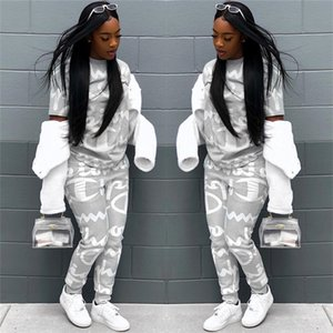 Champion Brand Designer Tracksuit Women Letter Printed Clothing Sets Spring Autumn Outfit Fashion Jogger Set Sportswear S-XL