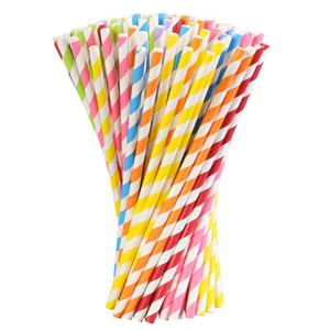 Многоцветные бумажные соломинки для питья день рождения свадьба событие Гавайские праздники Луау палочки КТВ соломинки для питья