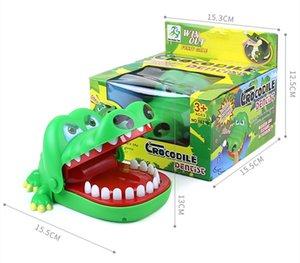 15*13cm Large Bulldog Crocodile dinosaur Shark hippo Mouth Dentist Bite Finger Game Funny Novelty Gag Toy for Kids Children Play Fun