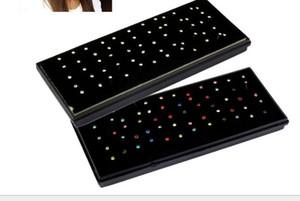 60Pcs Box Packed Europe 1.8mm 316L Medical Titanium Steel Diamond Fake Nose Stud Nose Ring Body Piercing Jewelry Wholesale