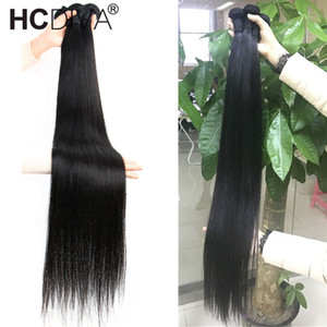 브라질 스트레이트 3 번들 저렴한 인간의 머리카락 확장 100 % 진짜 인간의 머리 직조 30 32 34 36 38 40 인치 빠른 무료 배송