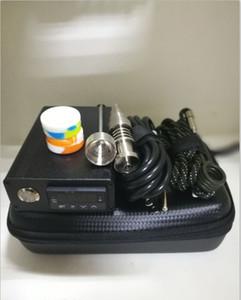 Portable pas cher E ongles D-nail dab rig kit boîte de contrôleur de temp électrique avec 16mm 20mm ongles en quartz de titane pour pipe en verre