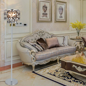 New design creative modern  D 35cm x H 160cm smoky crystal floor lights led standing lamp for reading room bedroom side sofa