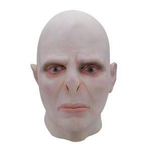 Top Vente 2019 Nouveau Harry Potter Seigneur Voldemort Masque patron Masques En Latex Cosplay Effrayant Minecraft Terrorizer Masques Halloween Cosplay Partie Masque