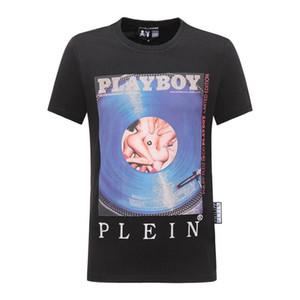 Erkekler Yaz yeni ürün T Gömlek Moda Kısa Kollu T-shirt Giyim Casual Kafatası Harf baskı Kalça yeni stil Adam tişört clothin Hop @ 1238