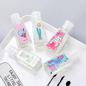 Protable mano Sanitiz Universal Home Productos para el baño lindo sabor de frutas portátil para colgar la colada de libre colada de la mano del gel desinfectante de la mano de dibujos animados
