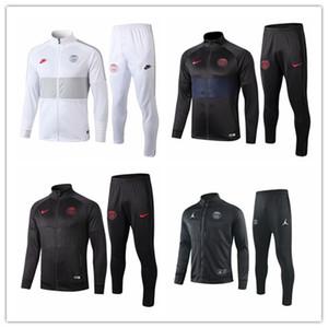 2019 2020 PSG chaqueta para hombre Verratti Silva camiseta de manga larga chándal de fútbol Mbappé París cuello alto Alves CAVANI camiseta de entrenamiento