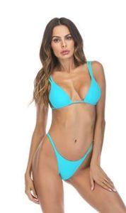 Mulheres Designer Tankinis Verão 2pcs Bikini Bras Briefs Define cor sólida Sexy 19ss New Bikini