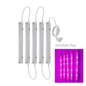 LED 식물 성장 빛 T5 튜브 실내 전체 스펙트럼 수경 시스템 온실은 EU AU 플러그와 식물 램프를 성장