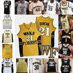 Wake Benutzerdefinierte Walddämon Deacons Basketball Jersey NCAA Duncan Brandon Childress Olivier Sarr Chaundee Brown Andrien Weiß Mucius