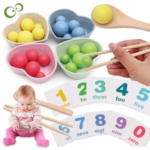 Kids Toys Montessori Wooden Toys Hands Brain Training Clip Beads Puzzle Math Game Baby Early Educational Toys For Children GYH