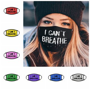 I CAN'T BREATHE Masks Black Lives Matter Face Mask Adult Fashion Washable Reusable Anti Dust Face Designer Mask 8styles RRA3130