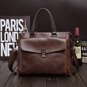 Shoulder Bags For Men Pu Leader Crossbody Bag High Quality Messenger 2020 Handbag Waterproof Brown Sling Bag Casual Office Work