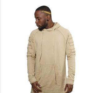 Hoodies del Mens di nuovo stile solido di colore di stile di modo degli uomini con cappuccio Via caldo pile Felpa Moda Autunno Inverno Pullover Plus Size