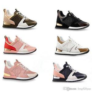 el color de cuero de lujo de zapatos casuales zapatillas de deporte de hombres con cordones de zapatos de marca de moda caja original Mixta suela gruesa de las mujeres calza el tamaño 34-45