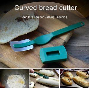 Curvado Cuchillo de pan estilo occidental Baguette corte francesa Toas cortador Bagel Baking Herramientas Bakers Makers cocina el cuchillo GGA3389-2