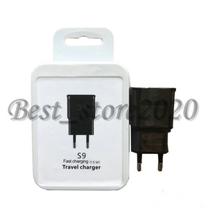 9.0V 1.67A EU US Fast Wall Travel Adapter Charging Charger For samsung S9 S8 S7 Note8 with package
