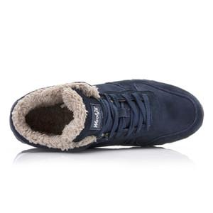 2019 Männer beiläufige Schuh-Winter-warme Stiefel Baumwollplüsch-Schnee-Aufladungen der neuen Ankunfts-Flock Lace Up Mann Schuhe
