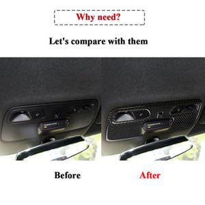 Vera fibra di carbonio interno sagomate pagina della copertura Automotive Interior Sticker Trim Per Camaro