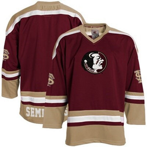 Custom Men's Florida State Hockey Jersey Embroidery Stitched Any Name Any Number Hight Quality Size S-3XL