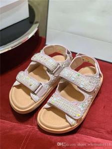 Última colección de tejido color sandalias de tweed, 20P mujeres de cuero de gamuza Zapatillas Sandalias multicolor Deportes