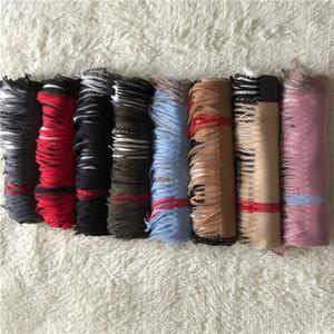 clássicas marcas das mulheres do lenço dos homens longa borla xale lenços de espessura cashmere scarv suaves inverno cachecol de caxemira de alta qualidade Atacado 200 * 70cm