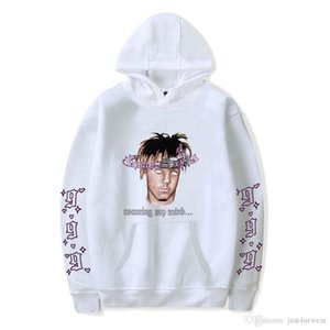 Mens Hoodies Juice Wrld Letter Printed Unisex Hip Hop Pollover Sweatshirt Fashion Hooded Hoodies Tops Wear
