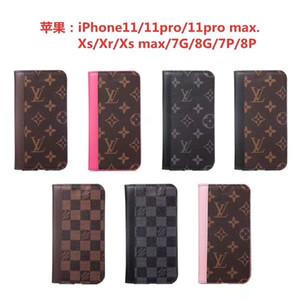 Top couverture de téléphone cuir collision couleur de la marque iPhone cas pour 6 6s 7 8 8plus pour iphone x xr pour iPhone 11 11 pro 11 pro max