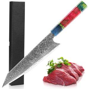 KHTO japonês Damasco Chef faca 8 polegadas faca Cleaver Nakiri 67 Layers VG 10 Damascus Steel faca de cozinha solidificados Madeira Handle