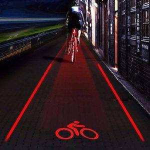 Sıcak Satış Bisiklet LED arka lambası Emniyet Uyarı Işığı 5 LED + 2 Lazer Lamba Gece Dağ Bisikleti Arka Işık Seti Bycicle Aksesuarları T191116