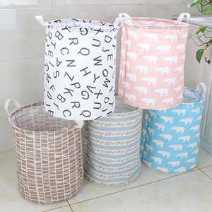 15 Стили шаблон Ins хранения корзины Одежда Организация Canvas Прачечная сумка Бункеры Детская комната Игрушки для хранения сумки Bucket VT0273