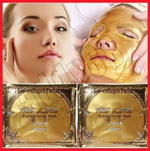 Soins du visage Gold Bio-Collagène Masque facial Masque facial Crystal Gold Poudre Masque facial au collagène hydratant Masques anti-âge 24k or