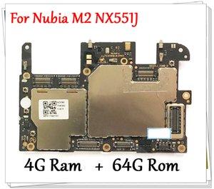 Sbloccato originale per ZTE Nubia M2 NX551J 4GB + 64GB funziona bene Mainboard della scheda madre principale