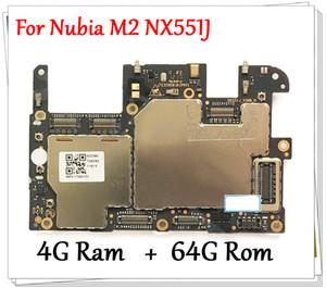 Desbloqueado Original Para ZTE Nubia M2 NX551J 4GB + 64GB de Trabalho Bem Mainboard Motherboard Principal