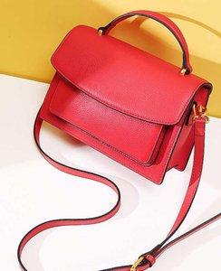 Tasarımcı-Yeni Baitao Kore versiyonu ilk kademe sığır derisi yatık moda tek omuz çantası
