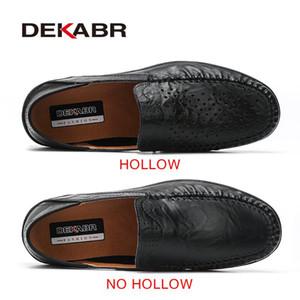 avec boîte Dekabr souple en cuir pour homme Mocassins New main Chaussures Hommes Casual Mocassins pour les hommes de Split en cuir chaussures plates grande taille