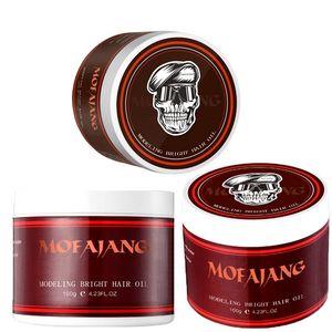 mofajang hair pomade 100g strong style restoring hair wax skeleton cream long lasting hair oil no greasy