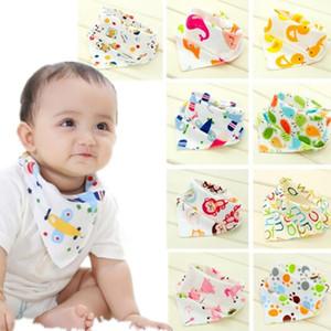 Baby-Lätzchen Dreieck Cotton Spucktücher Cartoon Kinderlätzchen Dribble Lätzchen Newborn saugfähiges Tuch 39 Designs DW5207