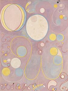 Hilma af Klint dieci più grandi decorazione domestica dipinta a mano HD Stampa della pittura a olio su tela di canapa di arte della parete della tela di canapa Immagini 191110