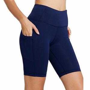 Femmes Yoga Aligner Hotty chaud court extérieur indorr Gym Fitness Entraînement sportif élastique Shorts Pantalons Slim FY8047