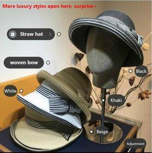 20 cores mais novo design Hats Caps mulheres Moda Stingy Brim Chapéus Print Pattern respirável Casual chapéus da praia chapéu de Sun atacado Top Quality