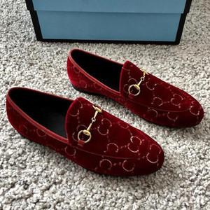 Sapatos de alta qualidade das mulheres nova moda de impressão sapatos casuais planas senhoras projeto sapatos de vestido de veludo sapatos de pano mens plataforma drivingshoe qu